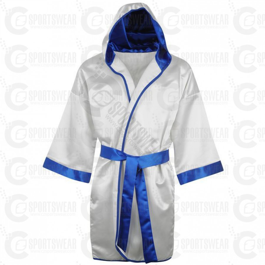 Personalised Boxing Robes: Boxing Gown 100% Satin Full Length London United Kingdom